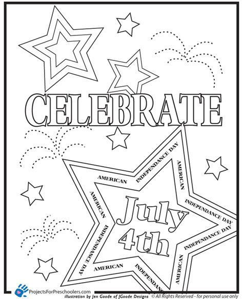 Printable 4th Of July Coloring Pages 4th of july printable coloring pages az coloring pages