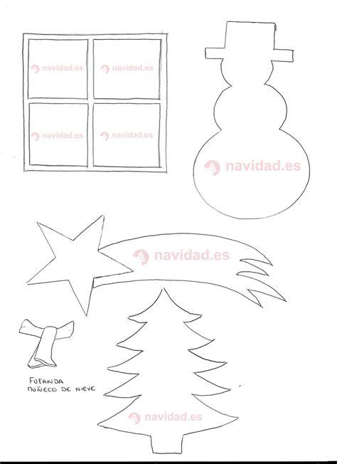 plantilla árbol de navidad para imprimir plantillas 225 rbol y mu 241 eco de nieve para hacer postales navide 241 as navidad tu revista navide 241 a