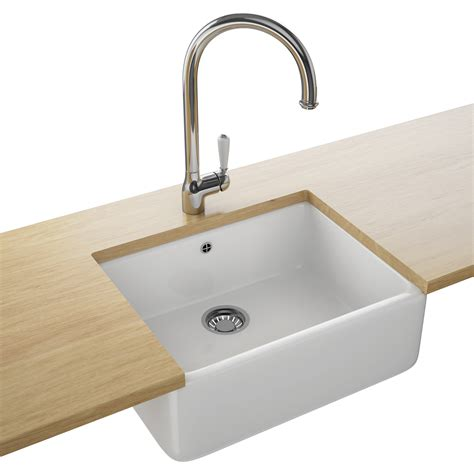 Franke Belfast Vbk 710 Ceramic 1 0 Bowl White Kitchen Sink Kitchen Sinks