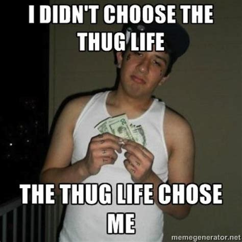 Meme Quotes About Life - 20 best i didn t choose the thug life memes smosh