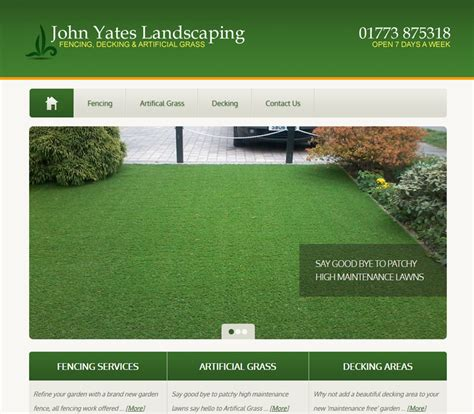 john yates landscaping online99 website design derby