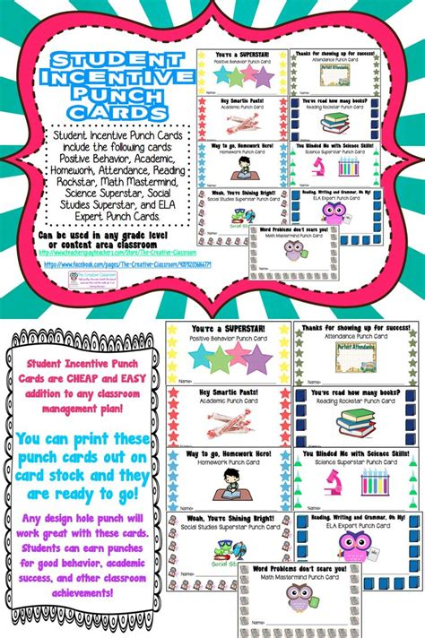punch card templates for students best photos of template of incentive board sales