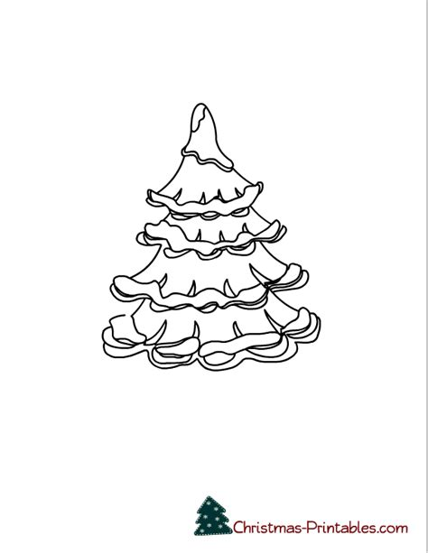 small tree coloring pages christmas coloring pages for