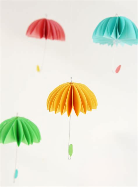 Umbrella Paper Craft - how to make paper umbrellas