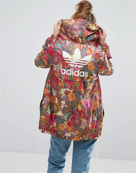 Adidas Flower Fastival Suitshirt Hoodie And Legging Print Compression coats jackets ootd magazine