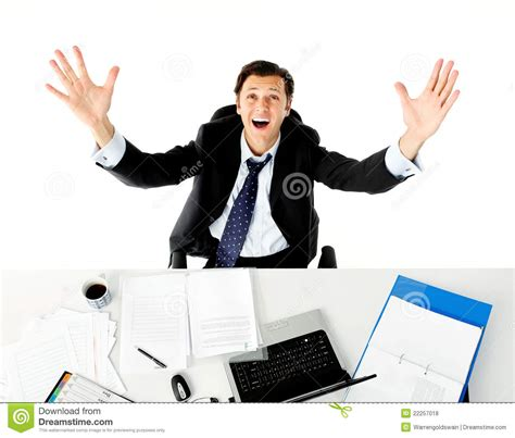 bureau am駭agement overwhelmed office worker stock photo image of