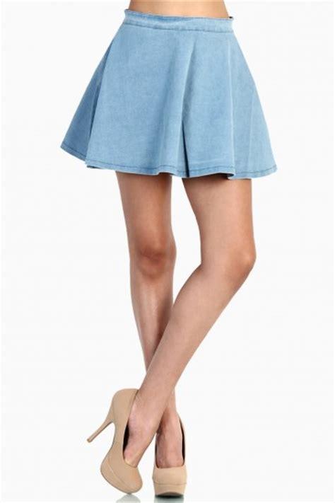 lovemelrose from harry molly light denim skater skirt