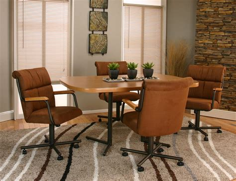 chair wonderful dining room chairs with arms and casters fresh at full circle white fabric chair having black cream pattern also arm