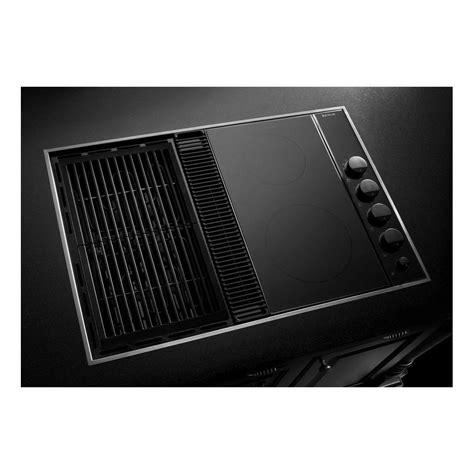 jenn air cooktop cvex4270b jenn air expressions 31 quot downdraft electric cooktop black on black deals