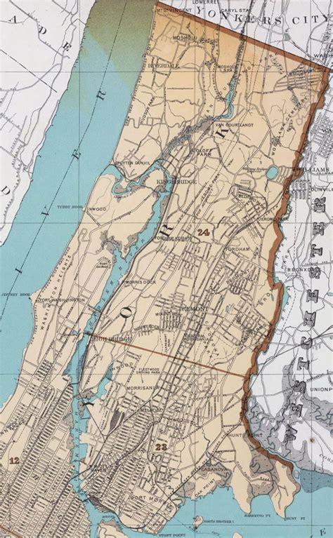 Bronx County Search Bronx County New York 1895 Map By Julius Bien Belmont Riverdale Ny