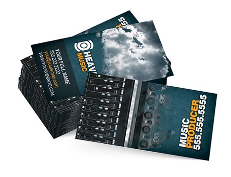 Producer Business Card Template Psd by Business Card Producer Card
