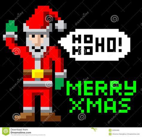 best pixel merry christmas retro pixel santa stock vector image 33358482