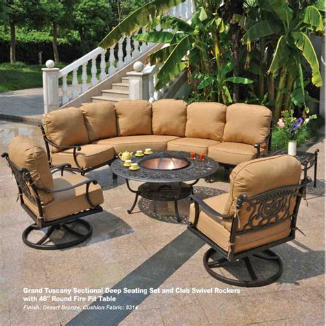 grand tuscany pit set by hanamint patio furniture