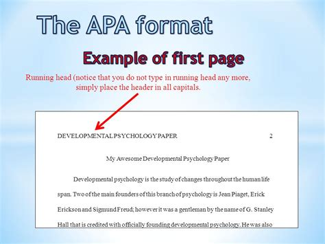 how do you format page 2 of a resume the apa format title page ppt