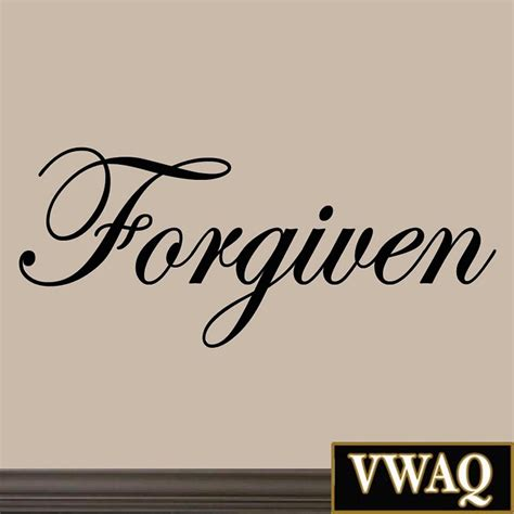 Wall Art Stickers For Nursery forgiven decal wall quote inspirational sayings stickers