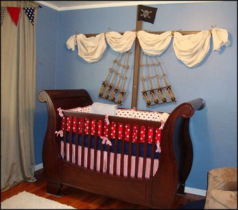 nautical baby boy nursery room ideas pirate themed