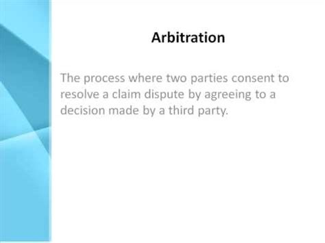 Arbitration Search Arbitration Definition What Does Arbitration