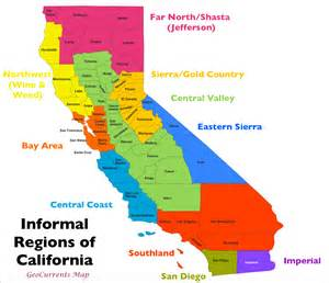 the regionalization of california part 1 geocurrents