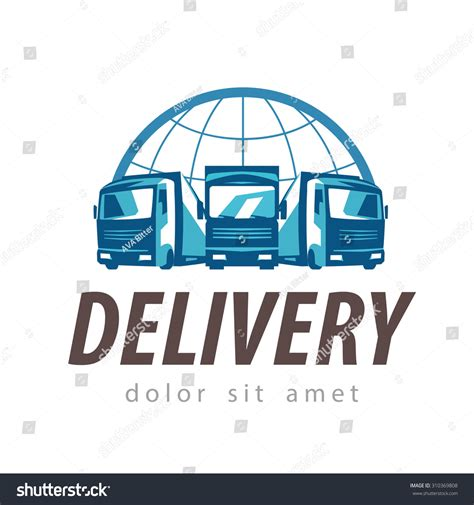 Delivery Vector Logo Design Template Truck Stock Vector 310369808 Shutterstock Transport Logo Templates