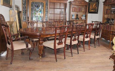 Chippendale Dining Room Furniture Dining Table Set Chippendale Chairs Set Suite Mahogany Ebay