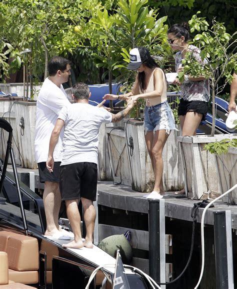 boat trip in miami kourtney kardashian on a boat trip in miami 7 3 2016