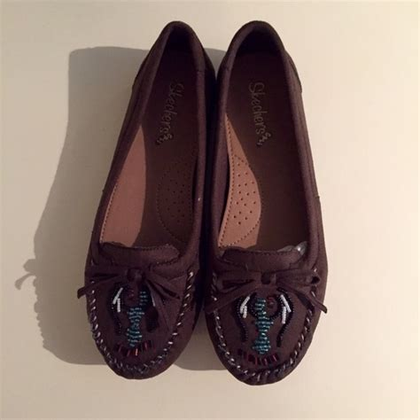 Wedges Boots Skechers Bobs Ori 100 skechers shoes chocolate brown beaded cali moccasins