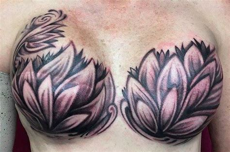 double down tattoo artist s beautiful work on mastectomy client