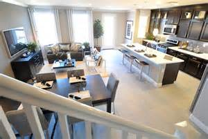 open concept kitchen dining room floor plans model crashing townhouse tours centsational