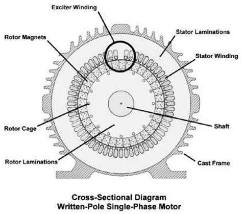 rotor and stator single phase motor wiring diagrams