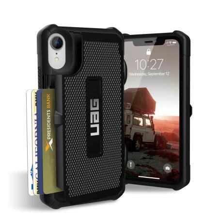 uag trooper iphone xr protective wallet case black