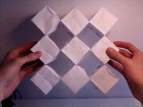 How To Make An Origami Transforming - quot origami quot transforming cubes