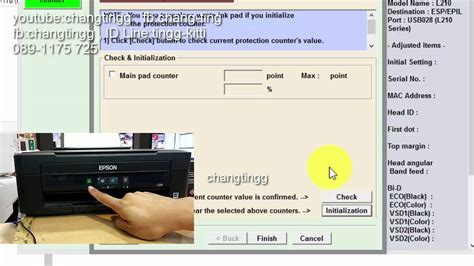 epson l210 waste ink pad resetter key howto reset waste ink pad counter ซ บหม กเต ม