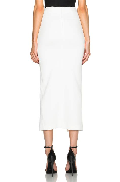 nicholas ponti split maxi pencil skirt in white fwrd
