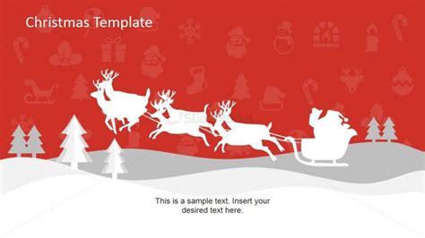 themes powerpoint 2007 christmas christmas reindeer and sledge theme slide slidemodel