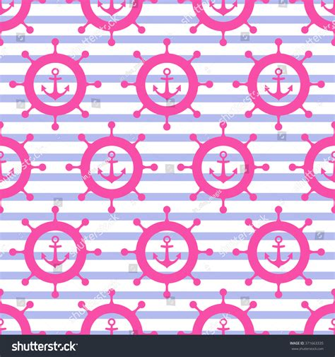 cute navy pattern cute nautical background navy vector seamless stock vector
