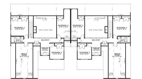 luxury duplex floor plans ensenada luxury duplex home plan 055d 0888 house plans
