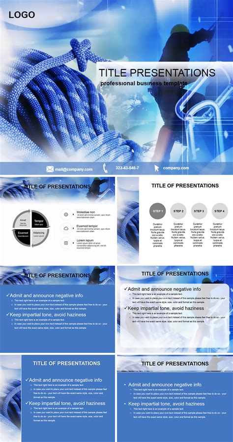 basic guide to climbing powerpoint template imaginelayout