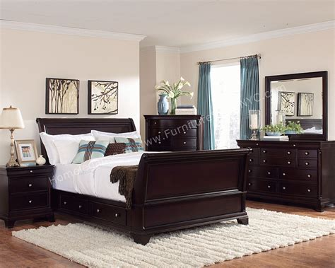 wood bedroom furniture inglewood bedroom set in cherry wood finish by homelegance