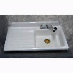 antique cast iron enameled kitchen sink