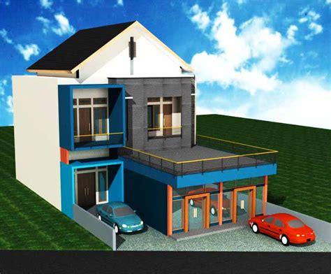 desain rumah ruko gambar rumah minimalis ruko
