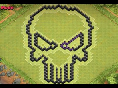 coc special layout clash of clans th8 skull base youtube
