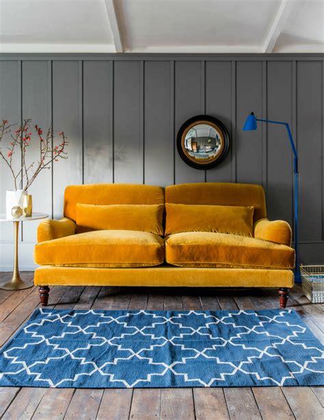mustard yellow velvet sofa mustard velvet three seater sofa