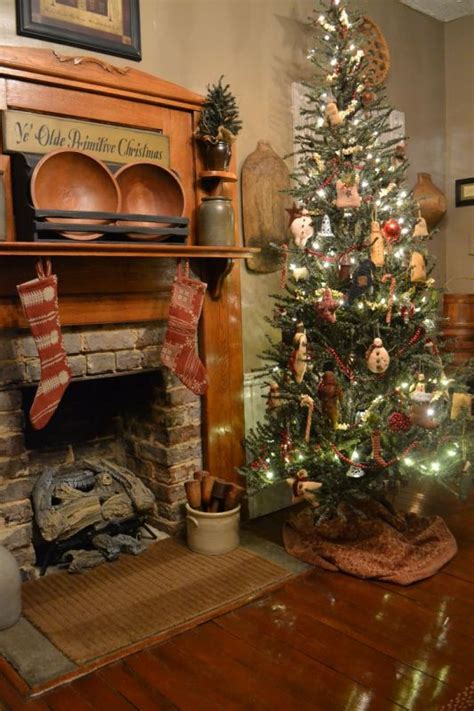 25 beautiful primitive christmas tree decorations ideas