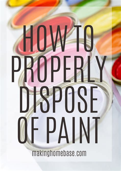 Where To Dispose Of A by How To Dispose Of Paint Properly