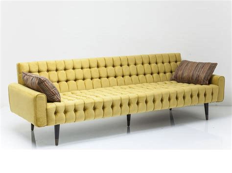 sofa kare tufted 3 seater polyester sofa milchbar by kare design