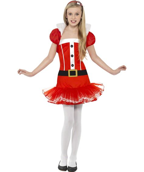 teen santa girl tutu dress girls christmas party fancy