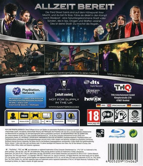 Row 3 Ps3 bles01748 saints row the third