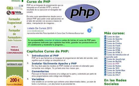 tutorial php online curso gratuito o tutorial de php online y completamente en