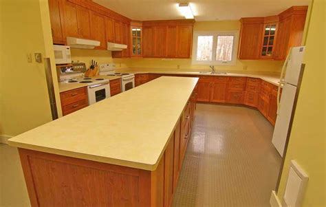 commercial kitchen cabinetry cherry wood lots of work