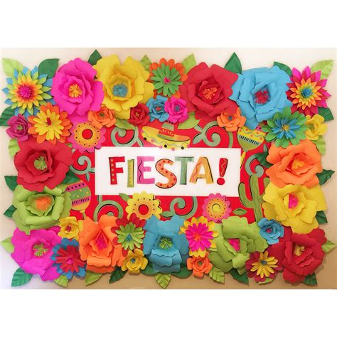 party ideas spanish fiesta on pinterest parties mexican fiesta theme paper flower backdrop mexican